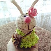 """Куклы и игрушки ручной работы. Ярмарка Мастеров - ручная работа Зайка """"К 8 Марта готова"""" :). Handmade."""