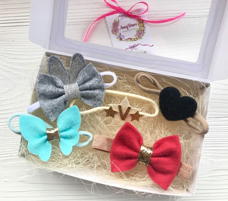El conjunto de las cinco de accesorios en la cabeza para las niñas, Hairpins and elastic bands for hair, Moscow,  Фото №1