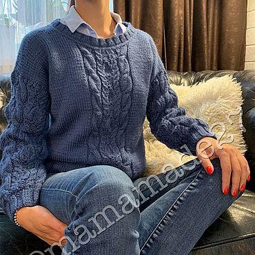 Одежда ручной работы. Ярмарка Мастеров - ручная работа Пуловер ручной вязки. Handmade.