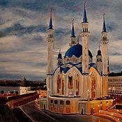 """Картины и панно ручной работы. Ярмарка Мастеров - ручная работа """" Мечеть Кул-Шариф """" (авторская работа). Handmade."""