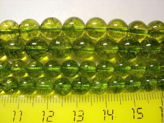 Для украшений ручной работы. Ярмарка Мастеров - ручная работа. Купить Хризолит гладкий 6 мм. Handmade. Ярко-зелёный