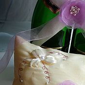 """Свадебный салон ручной работы. Ярмарка Мастеров - ручная работа Подушка для колец """"Нежность"""". Handmade."""