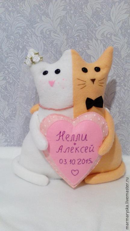 Подарки на свадьбу ручной работы. Ярмарка Мастеров - ручная работа. Купить Котики на свадьбу. Handmade. Белый, котики на свадьбу, фетр