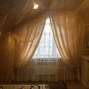 Для дома и интерьера handmade. Livemaster - original item Curtains, Tulle sloping, arched, triangular oneindividual. Handmade.