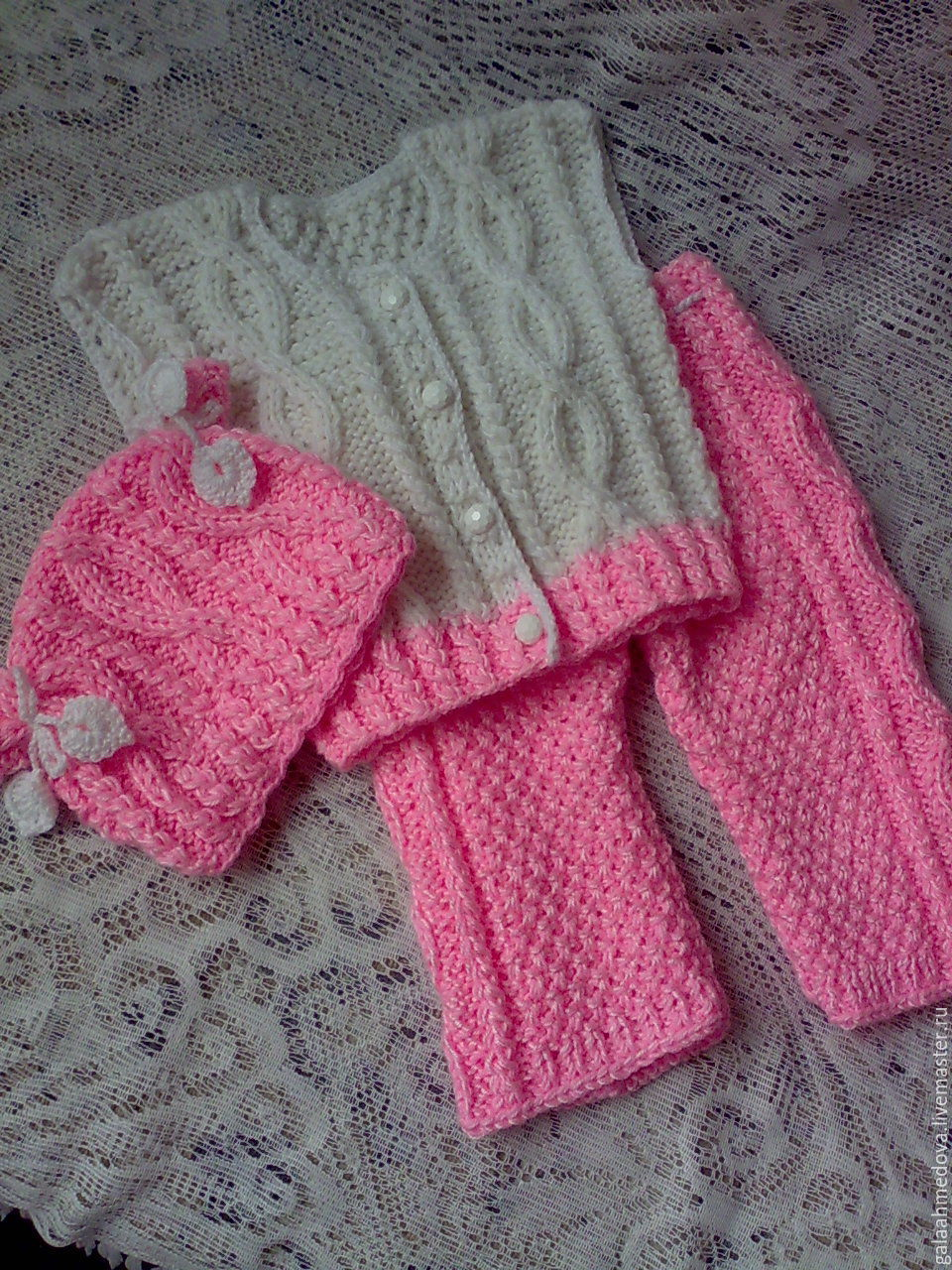 Children's costume for a year, children set, knitted suit, suit for baby, clothing for children, hand-job, a smart suit, child set, to be discharged,knitting for children, warm costume,