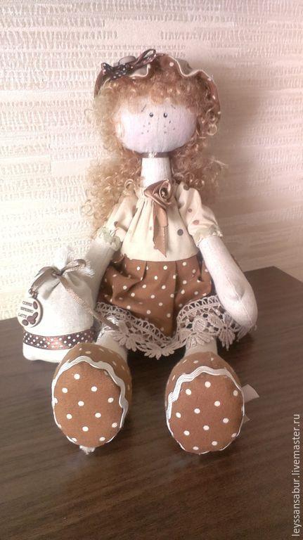Коллекционные куклы ручной работы. Ярмарка Мастеров - ручная работа. Купить Рыжая и кофейная. Handmade. Авторская кукла, подарок, шерсть