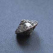 Бусина крупная серебро 925 проба 23мм