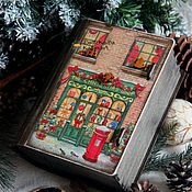"""Подарки к праздникам ручной работы. Ярмарка Мастеров - ручная работа """"Рождественская сказка"""" (старый короб-книга). Handmade."""