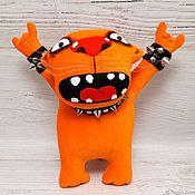 Куклы и игрушки handmade. Livemaster - original item Old School! Red cat is a rock star by Vasya Lozhkin. Handmade.
