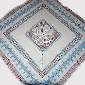 Для дома и интерьера handmade. Livemaster - original item Napkin with embroidery lace flower blue. Hand embroidery. Handmade.