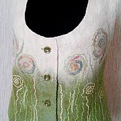 """Одежда ручной работы. Ярмарка Мастеров - ручная работа Валяный жилет """"В ожидании лета"""". Handmade."""