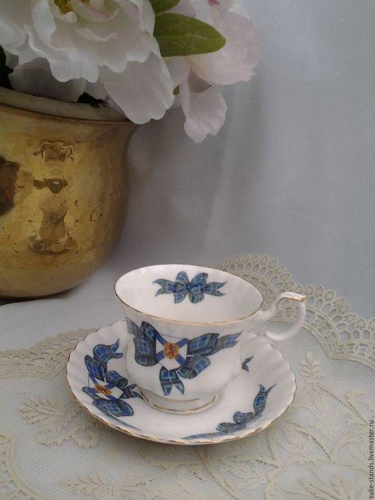 Винтажная посуда. Ярмарка Мастеров - ручная работа. Купить Чайная пара Фарфор Англия ROYAL ALBERT  TARTAN, Чашка с блюдцем. Handmade.