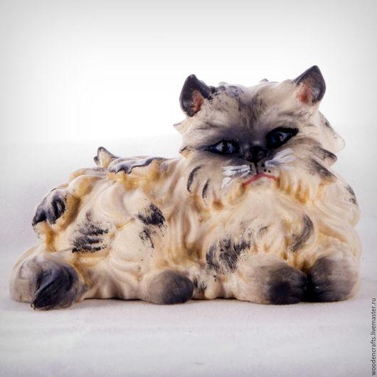 Игрушки животные, ручной работы. Ярмарка Мастеров - ручная работа. Купить Персидский кот из дерева. Handmade. Комбинированный, кошка