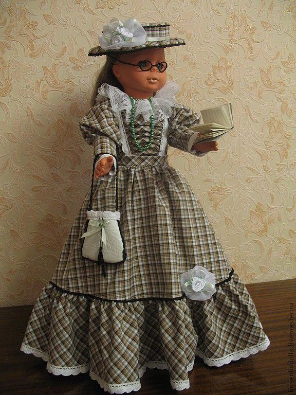 Старинное платье для куклы своими руками