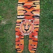 """Для дома и интерьера ручной работы. Ярмарка Мастеров - ручная работа Коврик """"Тигр"""". Handmade."""