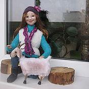 Куклы и игрушки ручной работы. Ярмарка Мастеров - ручная работа Кукла Девушка с козой. Handmade.