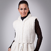 Одежда handmade. Livemaster - original item The vest is made of Mink Knitted and decorated with Pearls. Handmade.