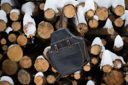 """Рюкзаки ручной работы. Ярмарка Мастеров - ручная работа. Купить 'Ушастый"""" РЮКЗАК на одно плечо. Handmade. Рюкзак, натуральная кожа"""
