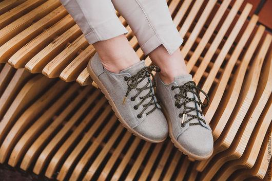 Обувь ручной работы. Ярмарка Мастеров - ручная работа. Купить Кеды 12-307-s16 (СК). Handmade. Мода