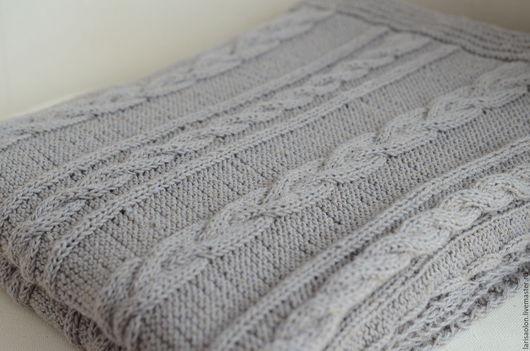 Текстиль, ковры ручной работы. Ярмарка Мастеров - ручная работа. Купить Серый плед. Handmade. Серый, летний, фотосессия