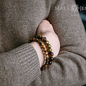 Украшения handmade. Livemaster - original item Set of Bracelets made of natural stone Tiger`s eye. Handmade.