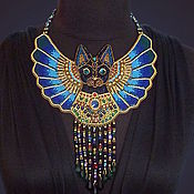 Украшения handmade. Livemaster - original item Egyptian Bastet necklace. Handmade.