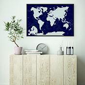 Дизайн и реклама handmade. Livemaster - original item Scratch map of the world AFI Design. Handmade.