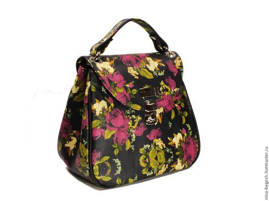 сумка, сумка из кожи, кожана сумка, сумка из кожи женская, кожаная сумка купить, розы, весна, купить сумку, сумка ручной работы, купить зеленую сумку, натуральная кожа, сумка из кожи