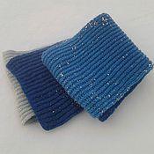 Аксессуары handmade. Livemaster - original item Scarf blue-white-blue. Handmade.