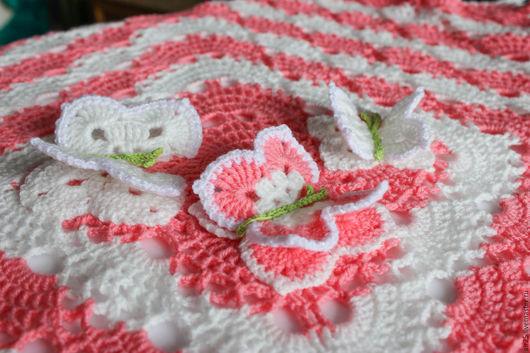 """Пледы и одеяла ручной работы. Ярмарка Мастеров - ручная работа. Купить Детский плед """"Розовое облако"""". Handmade. Розовый, пледик"""