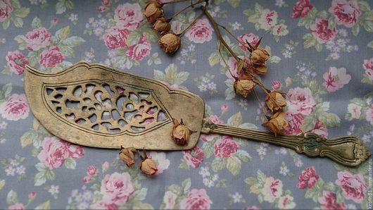 Винтажная посуда. Ярмарка Мастеров - ручная работа. Купить Старинная лопатка для торта Индия (2). Handmade. Латунь, ретро стиль