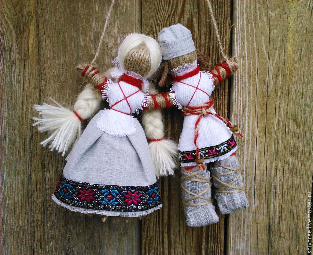 Обрядовая кукла неразлучники мастер класс