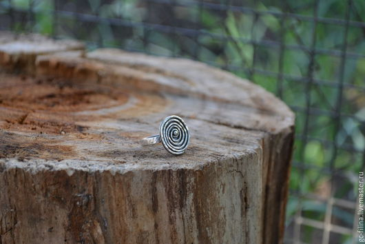 """Кольца ручной работы. Ярмарка Мастеров - ручная работа. Купить Серебряное кольцо  """"Спираль"""". Handmade. Серебряный, кольцо из серебра, украшение"""