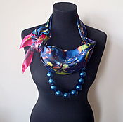 Украшения handmade. Livemaster - original item Scarf-necklace 791, Atlas. Handmade.