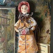 Куклы и игрушки ручной работы. Ярмарка Мастеров - ручная работа Елочная игрушка из ваты. Софи.. Handmade.