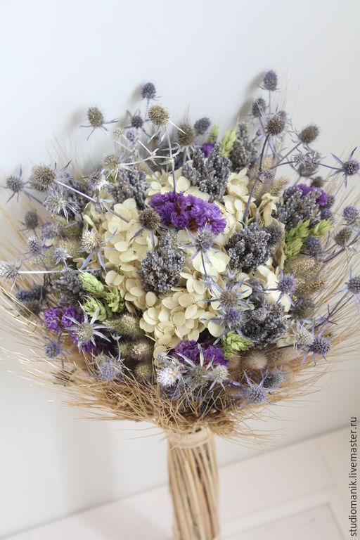 Букеты ручной работы. Ярмарка Мастеров - ручная работа. Купить Букет из сухоцветов. Handmade. Разноцветный, цветы, интерьерный букет