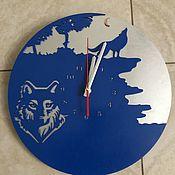Для дома и интерьера handmade. Livemaster - original item Watch classic: Watch The Wolf. Handmade.