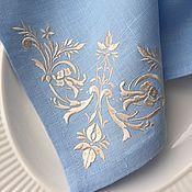 """Для дома и интерьера handmade. Livemaster - original item Салфетка с вышивкой """"Шарлотта"""". Handmade."""