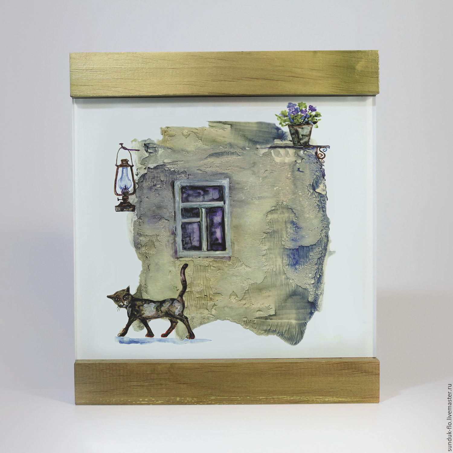 Glass painting is a `City cat`
