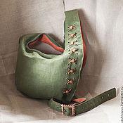 Сумки и аксессуары ручной работы. Ярмарка Мастеров - ручная работа Льняная сумка со шнуровкой. Handmade.