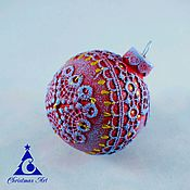 Подарки к праздникам handmade. Livemaster - original item Christmas ball, Christmas ornament, Christmas tree Gzhel Landscape. Handmade.