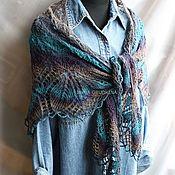 Аксессуары handmade. Livemaster - original item Pure wool shawl, color
