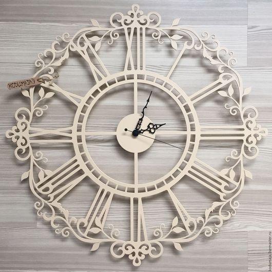 """Часы для дома ручной работы. Ярмарка Мастеров - ручная работа. Купить Часы 60см из металла """"Aaris"""". Handmade. Бежевый"""