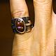 """Кольца ручной работы. Кольцо """"Iris"""" с огненным агатом. Mukha Jewellery (DragonStone). Ярмарка Мастеров. Опал, подарок, огненный"""