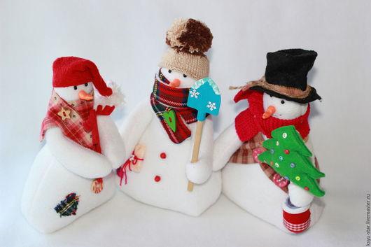 Игрушки животные, ручной работы. Ярмарка Мастеров - ручная работа. Купить Снеговички. Handmade. Белый, снеговичок, новогодний подарок
