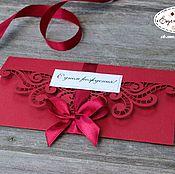 Открытки ручной работы. Ярмарка Мастеров - ручная работа Ажурный конверт для денег. Handmade.