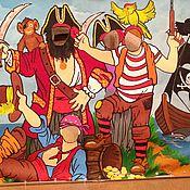 """Дизайн и реклама ручной работы. Ярмарка Мастеров - ручная работа тантамареска  """" Пираты на острове""""   аренда. Handmade."""