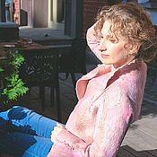 """Одежда ручной работы. Ярмарка Мастеров - ручная работа Жакет """"Лепестки роз"""", жакет на осень, жакет пудровый, жакет нежный. Handmade."""