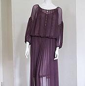 Одежда ручной работы. Ярмарка Мастеров - ручная работа Шифоновое платье в этно стиле. Handmade.