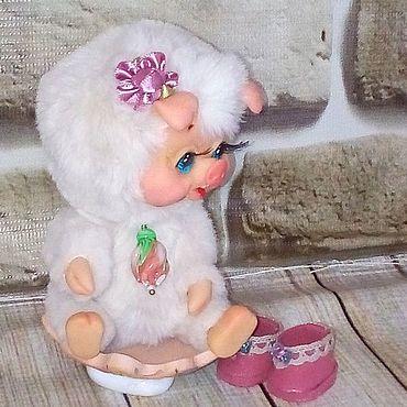 Куклы и игрушки ручной работы. Ярмарка Мастеров - ручная работа Тедди Зверята: Свинка Нежная. Handmade.